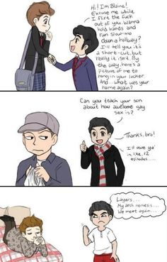 Oh my gosh this is... I'm dying of Klaine induced laughter...