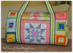 Patchwork Rainbow Duffle Bag