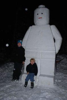 Giant LEGO Snowman