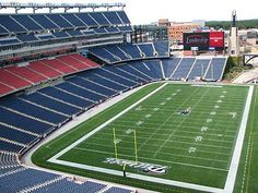 Gillette Stadium - Home to the New England Patriots.