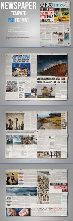 Newspaper Template   Pages  Newspaper Template And Print