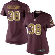 860441761 Dashon Goldson Women s Elite Burgundy Red Jersey  Nike NFL Washington  Redskins 80th Anniversary Alternate