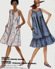 MccCalls Sewing Pattern 3666 Summer Tent Dress with by sandritocat, $8.00