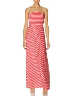 This dress screams summer time! Chevron Stripe Strapless Maxi Dress from The Limited.