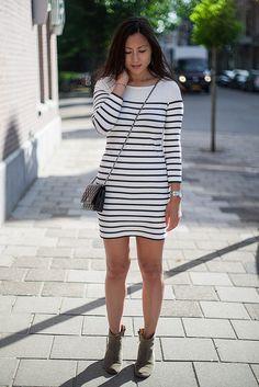 Breton striped dress.