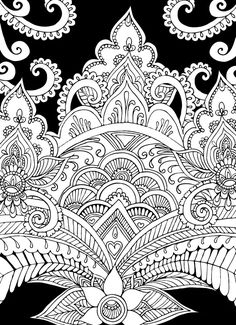 Creative Haven Magical Mehndi Designs Coloring Book: Striking Patterns on a Dramatic Black Background  Welcome to Dover Publications