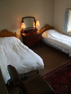 Twin Room 1 - Old Mill Colonsay Twin Room, Old Things, Cottage, Bed, Places, People, Furniture, Home Decor, Lugares