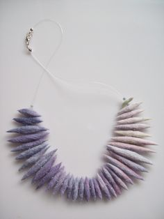 pale lilac colour gradient felt necklace ....Sara Hajgato