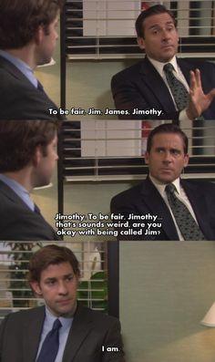 Michael to Jim aka James/Jimothy