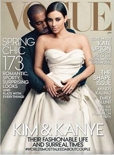 BEAUTY NEWS: Kim Kardashian Kanye West Vogue Cover April 2014: Hairstyle/Makeup Trends