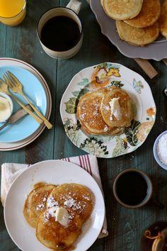 Banana Milk Chocolate Weekend Pancakes | http://joythebaker.com/2016/03/banana-milk-chocolate-weekend-pancakes/