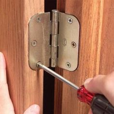 How to fix doors that won't close: Here ya go Randee!....or you can just use the jeans ;)