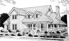 Country   Farmhouse  Southern   House Plan 68176.    Love this one!