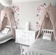 Bedroom Design Ideas – Create Your Own Private Sanctuary Twin Girl Bedrooms, Sister Bedroom, Shared Bedrooms, Twin Bedroom Ideas, Kids Bedroom Ideas For Girls Toddler, Girls Bed Room Ideas, Luxury Kids Bedroom, Childrens Bedrooms Girls, Girls Princess Bedroom