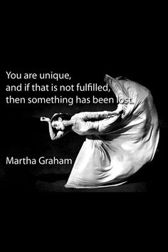 Click twice on the photo.. Martha graham || Being normal is overrated ♥ Wonderful!