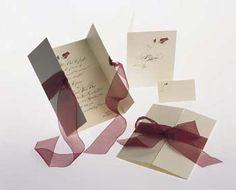 The Purple Mermaid: White and Burgundy Pocket Wedding Invitations ...