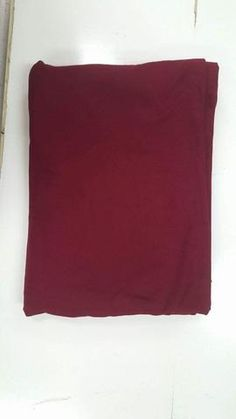 Double Brushed Polyester Spandex: Maroon-Burgundy Solid