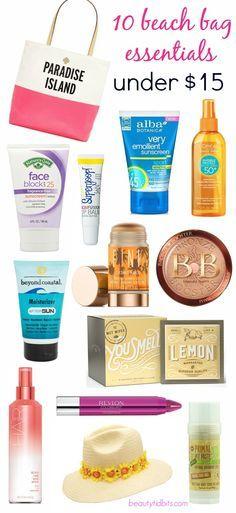 Beach bag essentials under $15