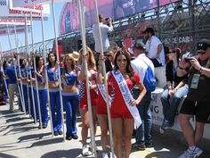 Miss Tecate Girls on the grid at race time