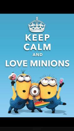 Ceep Calm and Love Minions! Keep Calm Minions, Minions Love, Minions Despicable Me, Keep Calm Signs, Keep Calm Quotes, Keep Calm And Love, My Love, Keep Clam, Minion Pictures