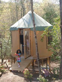 Yurt Playhouse | Kids Playhouse Kits | Kids Outside Playhouse | Laurel Nest Yurts