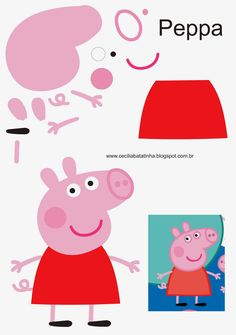 : Na přání - Formy Peppa Pig a jemu podobní Molde Peppa Pig, Bolo Da Peppa Pig, Cumple Peppa Pig, Pig Crafts, Felt Crafts, Crafts For Kids, Pig Birthday, 4th Birthday Parties, Peppa E George