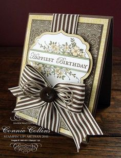 from Connie Collins. Love the bow details. How do people mail cards that are so bulky?