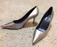 A pair of my shoes metallic leather