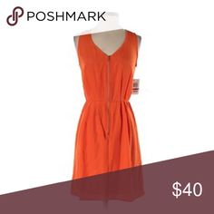 Bar III dress bar III orange zip up sleeveless dress size M *never worn* Bar III Dresses