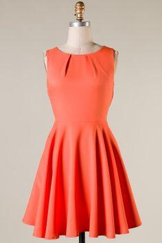 Sleeveless Solid Skater Dress .Summer DressChiffon by Styleiconia, $69.00