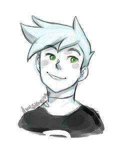 rewatching Danny Phantom, i watched like a whole season and a half in one day whoops so as a warmup i sketched Danny!