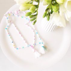 DIY beaded tassel necklace | Inspired by @Wimke Tolsma | www.metdehand.nl