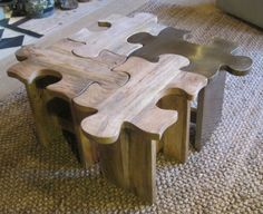 puzzle stool/table