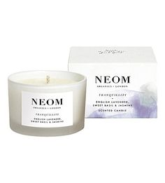 Neom Organics London Scent To Sleep Tranquillity Scented Candle (Travel) 3 Wick Candles, Scented Candles, Candle Jars, Holistic Treatment, Relaxing Bath, Pure Essential Oils, Burning Candle, How To Relieve Stress, Pure Products
