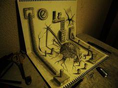 Os desenhos brutais em 3D de Hideyuki Nagai | tabonito.pt