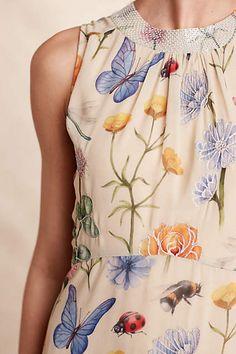Butterfly Garden Midi Dress - anthropologie.com