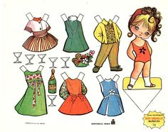 1960s Vintage Paper Doll by Gallarda.                                                                                                                                                                                 Más