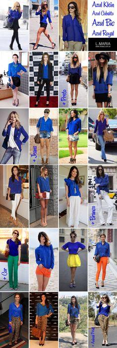 Inspire-se  Camisa Azul Klein Estes dias conversando com uma cliente 6967047cc0e52