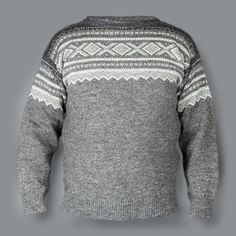 Grå strikkegenser (men ikke så dyr som denne): Knitting Patterns, Weaving, Men Sweater, Wool, Crochet, Creative, Sweaters, Inspiration, Norway
