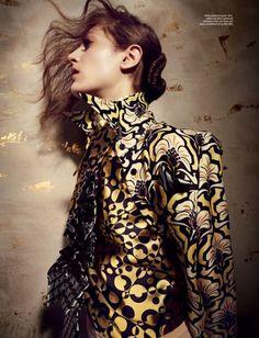 Publication: Wonderland September/October 2012  Model: Othilia Simon  Photographer: Kerry HallihanFashion Editor: Grace Cobb