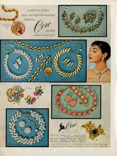1956 Coro jewelry ad