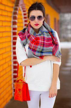 Winter White + Tartan