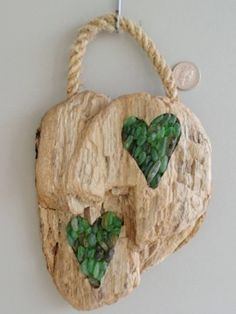 driftwood, with beach glass?