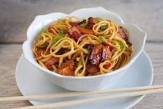 A simple Hot smoked salmon spicy noodles recipe for you to cook a great meal for family or friends. Buy the ingredients for our Hot smoked salmon spicy noodles recipe from Tesco today. Salmon Recipes, Fish Recipes, Seafood Recipes, Asian Recipes, Ethnic Recipes, Healthy Cooking, Cooking Recipes, Healthy Recipes, Spicy Noodles Recipe