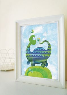 Cute Dinosaur nursery art print Dinosaur nursery decor by BabooArt, $12.00