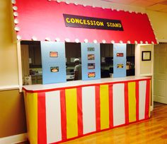 Concession stand School, carnival theme, VBS, sports, foam board crafts, youth, kids