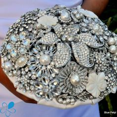 La Bella - Blue Petyl Bouquets #bridal #bouquet