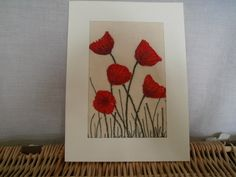 Poppies Textile Art by wendieshouse on Etsy