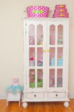 Vintage Baby Girl Nursery Armoire