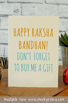 Funny rakhi and raksha bandhan cards to make your brohter laugh this year! We also have a limited number of rakhis which you can add to your order. #rakhicard #rakshabandhan Raksha Bandhan Cards, Raksha Bandhan Greetings, Rakhi Cards, Happy Rakshabandhan, Your Brother, Kraft Envelopes, Blank Cards, Card Making, Greeting Cards